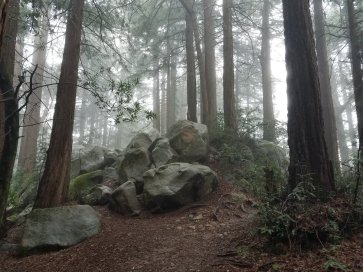 Redwood Peak summit rocks
